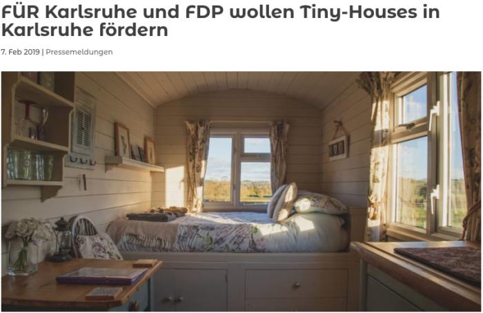 Stadtvertreter wollen Tiny-Houses in Karlsruhe fördern